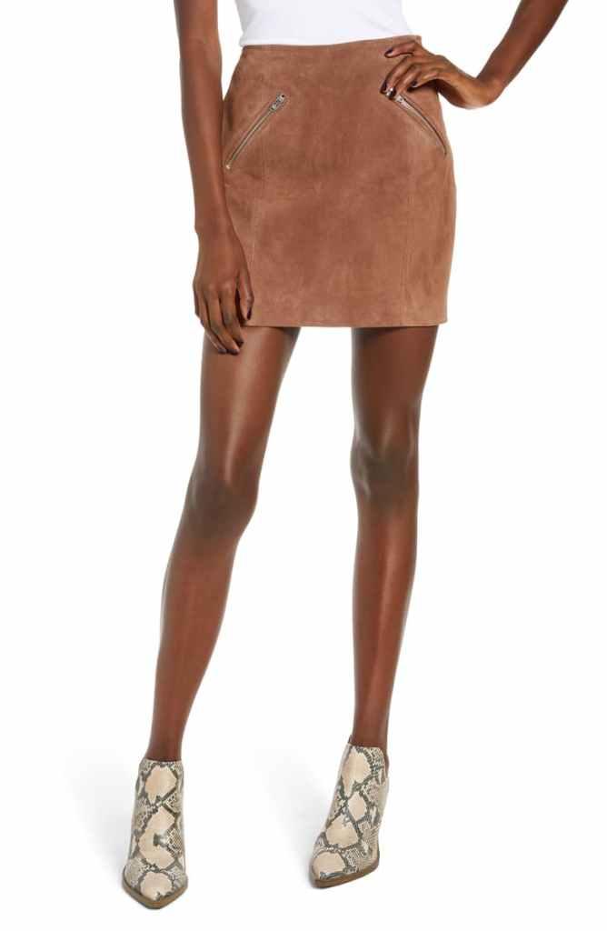 igobykait Kaitlyn Butler Nordstrom Anniversary Sale BLANKNYC Suede Miniskirt